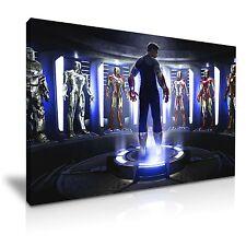 The Avengers Iron Man Suits Comics Movie Film Canvas Wall Art Deco