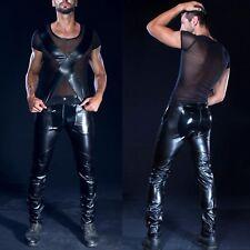 Patrice Catanzaro Dylan Zip Pants with step-RV Vinyl Pants Crotch Zip for men