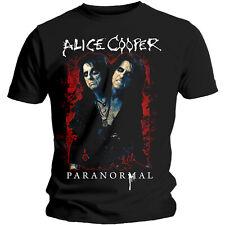 Official T Shirt ALICE COOPER- PARANORMAL SPLATTER Black Mens Licensed Merch New