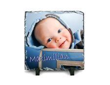 Natur-Schiefertafel mit Wunsch-Bild als Geschenk zur Geburt, Taufe, Geburtstag