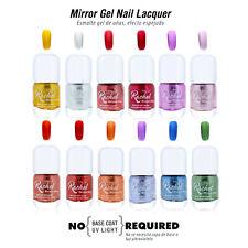 Mirror Effect Gel Nail Polish Laquer Metallic Color Shine Long Lasting NEW