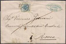 LOMBARDO VENETO 1858 - 45 c. n. 22 SPL MILANO x ROMA € 400