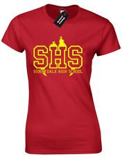 SUNNYDALE HIGH SCHOOL LADIES T SHIRT VAMPIRE BUFFY SLAYER WILLOW XANDER