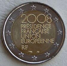 """2 EURO Francia 2008 """"Ue-Presidenza del Consiglio"""" unz"""