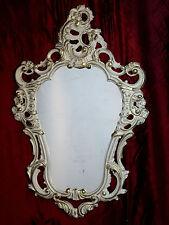 Shabby Chic Weiß Gold Wandspiegel Spiegel Barock Antik 50X76 Wanddeko 118 NEU