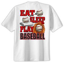 Baseball T-Shirt Jersey Eat Sleep Play New Yth and Adult sizes