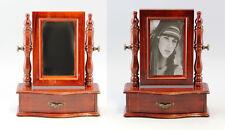 9977043 Holz Schmuckschatulle mit Spiegel kleine Psyche Schatulle Schminkspiegel