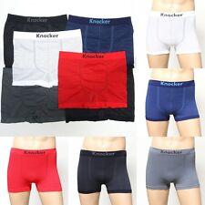 6 12 Mens Seamless Boxer Briefs Athletic Compression Pin stripe  One Size bikini
