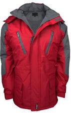 Heavy Waterproof Fully Fleece Lined Skiing Winter Jacket Cargo Press Stud S-5XL