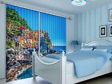 3D Halmet Sky Blockout Photo Curtain Printing Curtains Drapes Fabric Window AU