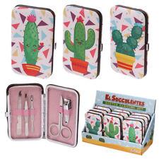 Cactus Bolsillo Manicura Set-Novedad Estuche con 5 utensilios Fiesta Regalo