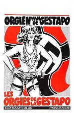 ORGY OF THE GESTAPO Movie Poster XXX Grindhouse Exploitation Nazi