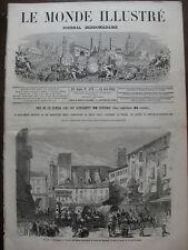 MONDE ILLUSTRE 1866 N 479 ITALIE BOLOGNE PLACE NEPTUNE