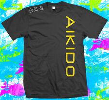 Aikido-T Shirt - 6 opciones de color-Pequeño A 3xl-Con Hombro Print-Nuevo
