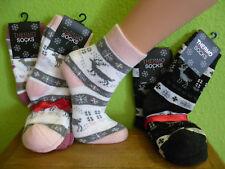 2 - 4 Paar Damen Thermo Norweger-style Vollfrottee Socken Warm Gr. 35 - 42 neu