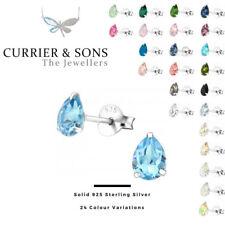 LA CRYSTALE 925 Sterling Silver Pear Stud Earrings with SWAROVSKI® Elements D2