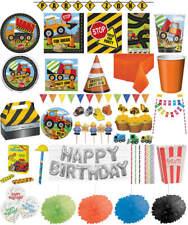 Kindergeburtstag Geburtstag Party Fete Feier Motto Baufahrzeuge Baustelle