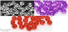 30 pezzi CHIARO perline acrilico 8 mm - Rose 1 mm TINKER GIOIELLERIA COLLANA #