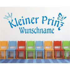 Wandtattoo Kleiner Prinz  Name Wunschname Wunschtext Wandaufkleber Sticker 85
