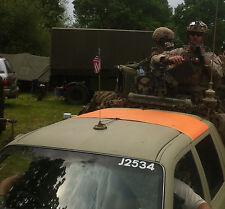BRITISH ARMY SURPLUS GRADE 1 PANEL DAY GLO ORANGE VEHICLE IDENTIFICATION IFF,PU