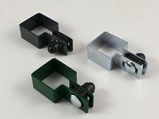 Endschelle SET quadratisch Zaunschelle Schelle 40x40mm 50x50mm 60x60mm 80x80mm