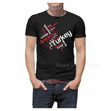 Türkei Städte T-Shirt Druck Baumwolle Fruit of The Loom Türkiye Istanbul Izmir