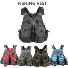 New Fishing Vest Safety Life Jacket Floatation Swimming Sailing Waist Coat