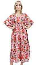 Lavande Floral Maxi Longue Kaftan Coton Robe De Demoiselle D'Honneur Caftan