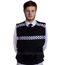 ADULT POLICE STAB VEST FANCY DRESS COSTUME SWAT BRITISH COPPER STD PLUS SIZE