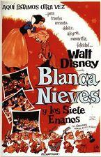 Vintage Spanish Snow White Movie Poster A3/A2/A1 Print