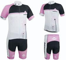 Merida Ladies Cycling Clothing Set Women's Cycle Jersey and Pants Short Kit Pink