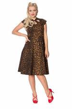 Rockabilly Kleid tierische Instinkte retro Banned 50er leopard