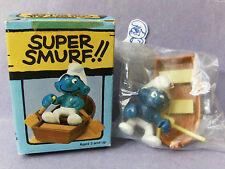 SUPER SMURF -- Vintage -- Rowboat  w/box  RARE !!