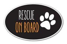 Rescue on Board Oval Vinyl Sticker - SELECT SIZE