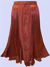 EAONPLUS NEW STUNNING RICH RED Renaissance Scalloped Hem Skirt Sizes UK 18 to 30