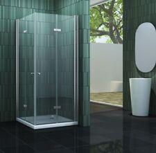 SPACE Faltbare Glas Duschkabine Eckeinstieg Dusche Duschwand Duschabtrennung