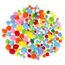 10-50mm Multicolors pompoms kindergarten DIY art craft kid educational Best HQ