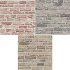 Erismann House Brick Pattern Wallpaper Faux Stone Effect Realistic Embossed Roll