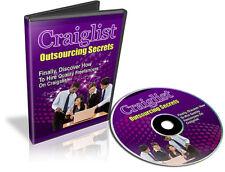 Craigslist Outsourcing Secrets Video Tutorials on 1 CD