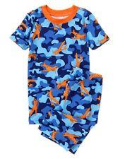 NWT Gymboree Boys gymmies Pajamas set Sky Blue camo Shortie 12-18M, 3,6