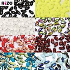 2.5x6mm Rizo Beads Czech Glass Drop Fringe Seed Beads 22 Grams 110 Colors U-Pick