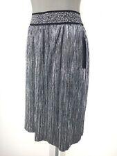 New With Tag MSK Elegant Black Metallic Silver Skirt EZ Fit Washable S, M, L, XL