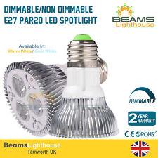 9W LED Spotlight Ceiling Lights Lamp E27 PAR20 Warm Cool White Home Lighting