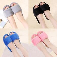 House Plush slippers Womens Bedroom Casual Open Toe Fuzzy Slide Slippers Winter