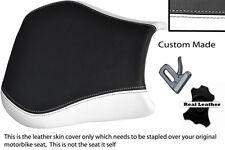 WHITE AND BLACK CUSTOM FITS APRILIA RSV RSVR 1000 04-08 LEATHER SEAT COVER