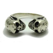 Sterlingsilber Ring massiv 925 Zwei Schädel r001740 Empress