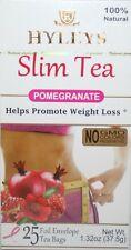 Hyleys 100% Natural Slim Green Tea Pomegranate Flavor, 25 Teabags -Please Choose