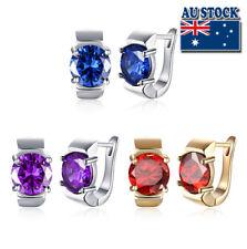 Elegant 18K Gold Filled Huggie Hoop Big Diamond Earrings With Zircon Crystal