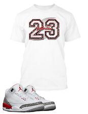 f25d8764bacb7b Tee Shirt to Match Air Jordan 3 Katrina Give Back Shoe Mens Graphic Pro  Club T