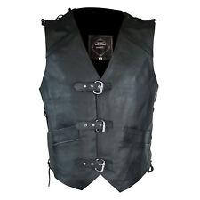 "Matador ""Vegas"" - Men's Premium Genuine Leather Motorcycle Vest"